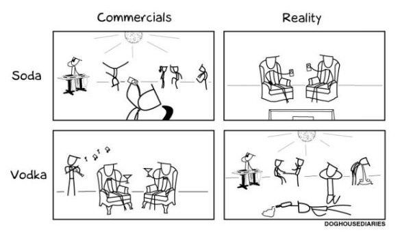 Commercials Vs Reality
