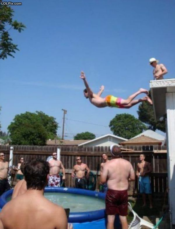 Epic Belly Flop Contest