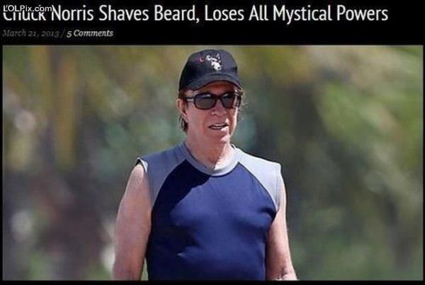 Chuck Norris Shaves Beard