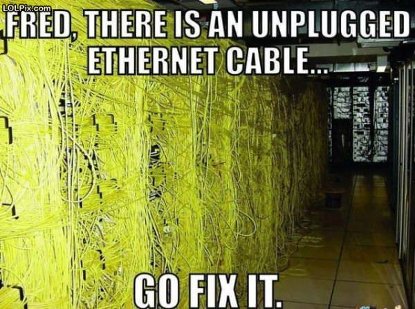 Unplugged Cable