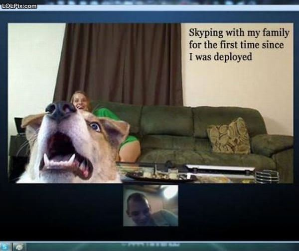 Skyping With My Family