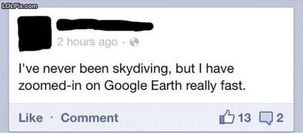 Almost Skydiving