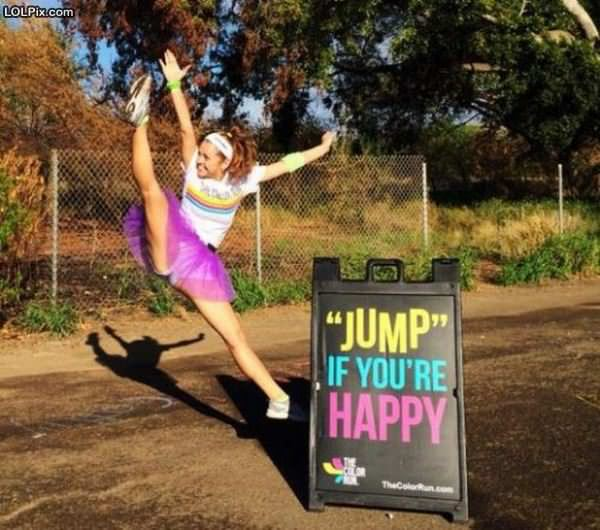 Jump If Youre Happy
