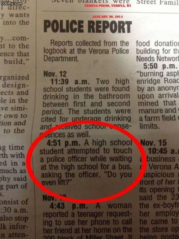 The Police Blotter