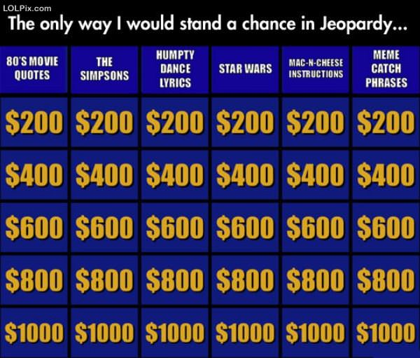 How I Would Win In Jeopardy