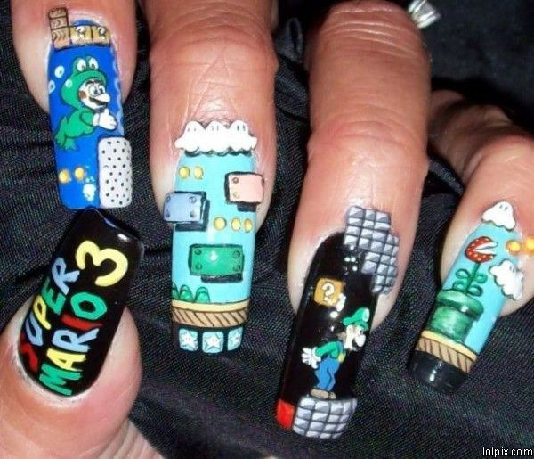 Video Game Nails