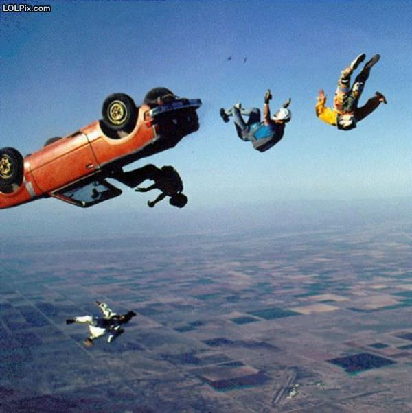 Cool Car Skydiving Funny Pictures Pic - Cool cars jumping