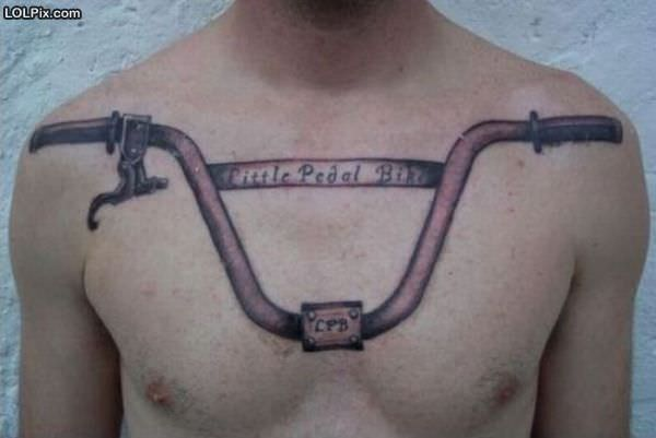 ... from Funny Pictures 908 (Little Pedal Bike Tattoo) Posted 10/26/2010