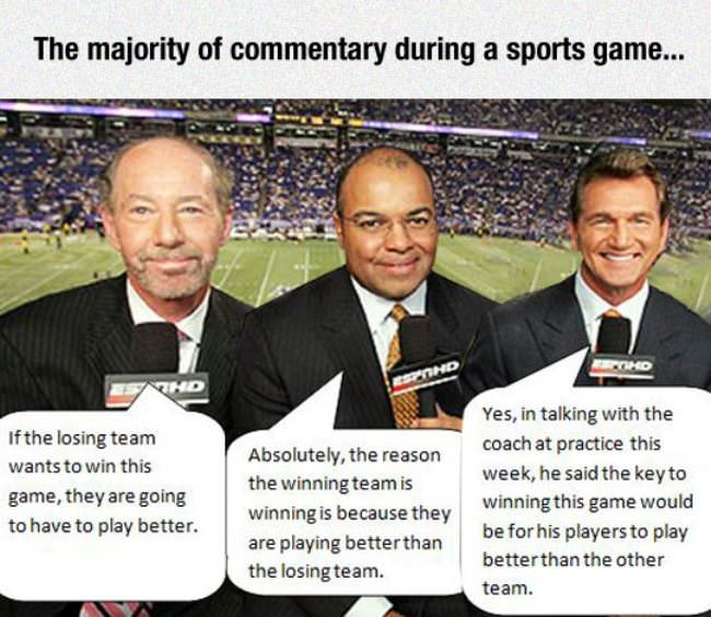 commentators in sports