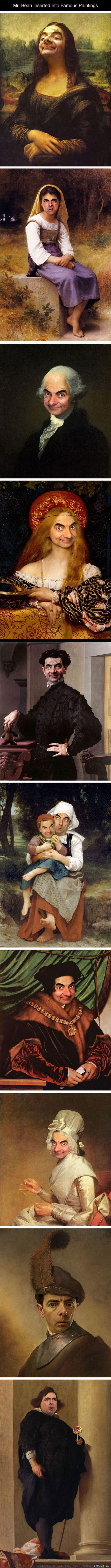 my bean in famous paintings