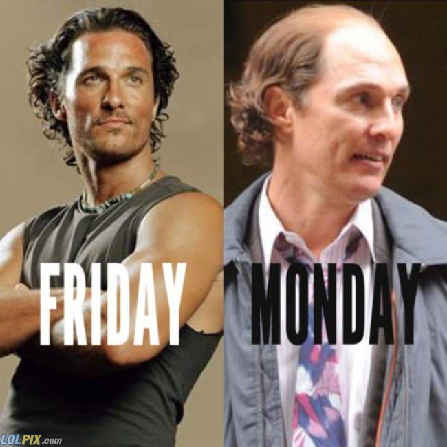 friday vs monday