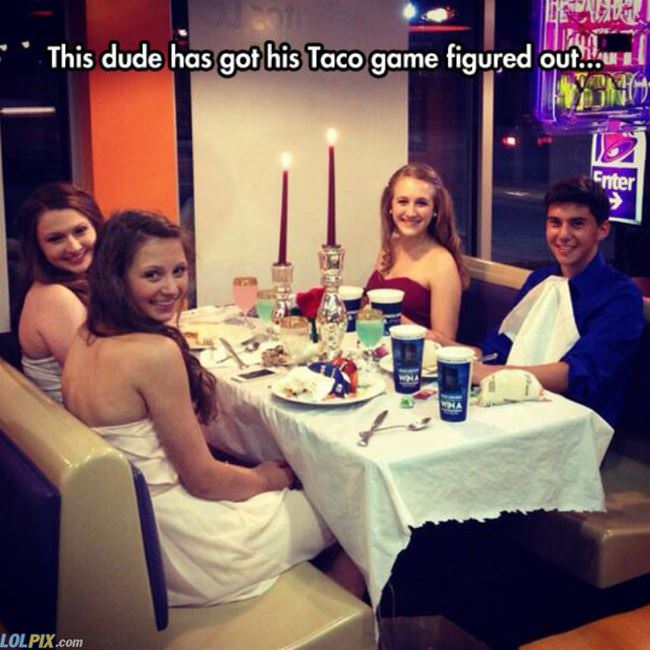 his taco game