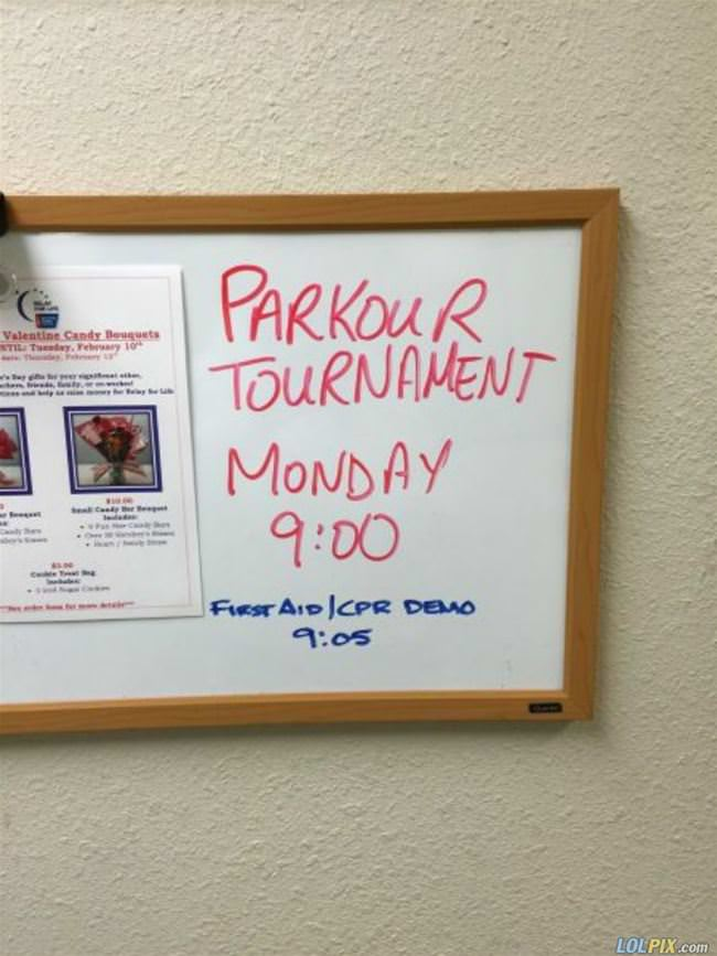 parkour tournament