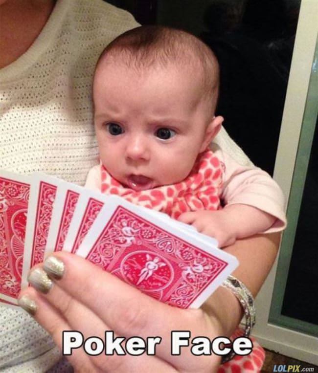 How to maintain a poker face