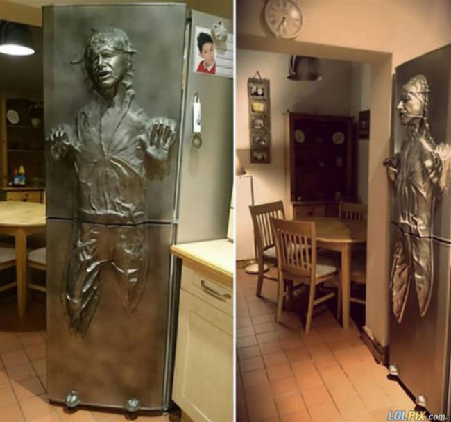 weird fridge