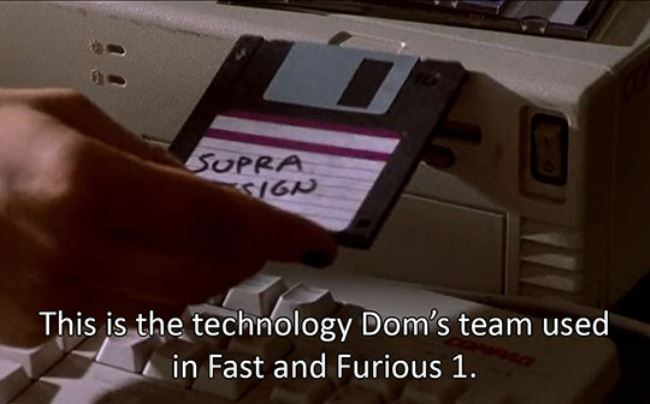 funny fast furious floppy drive tech