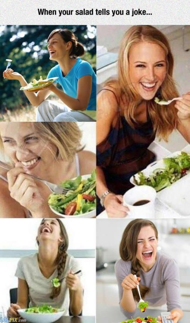 salad tells you a joke