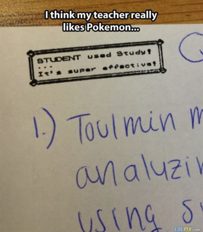 teacher loves pokemon