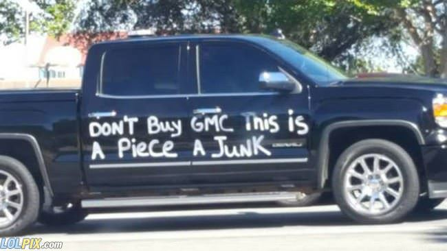 do not buy a gmc