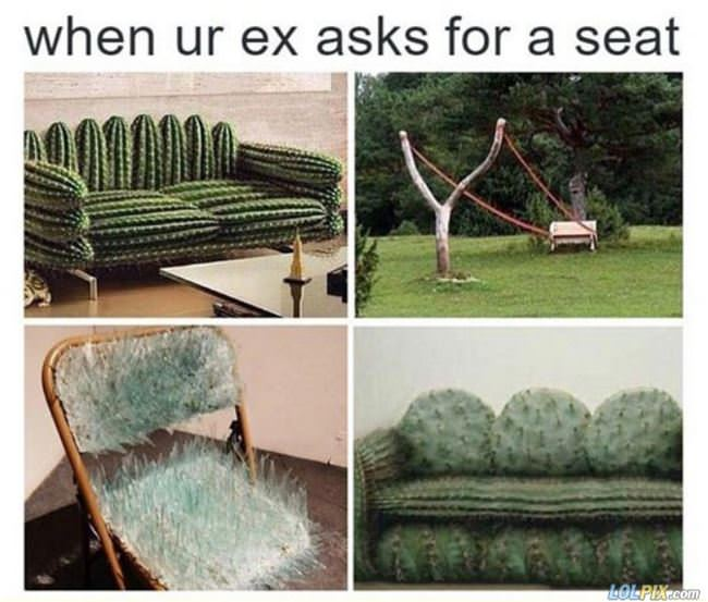 when your ex asks for a seat