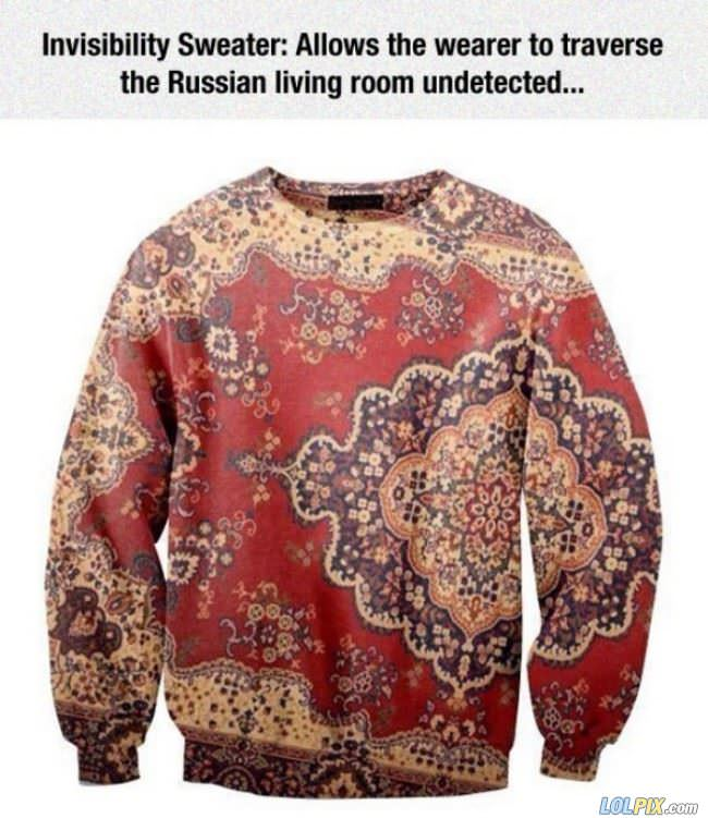 russian invisibility sweater
