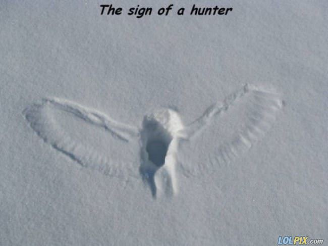 sign of a hunter