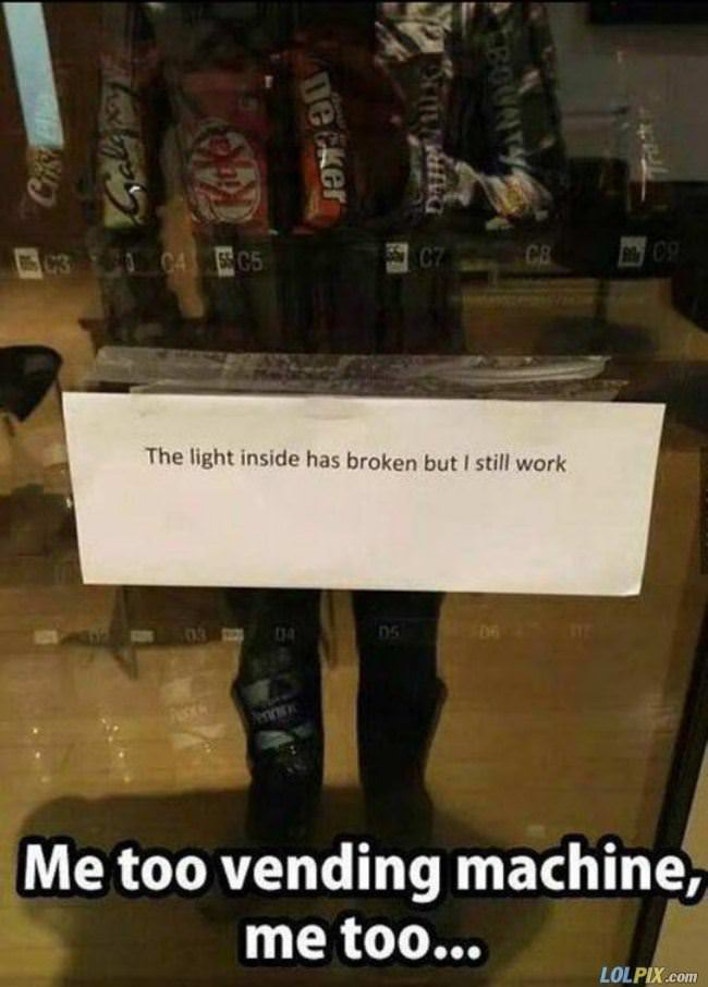 me too vending machine