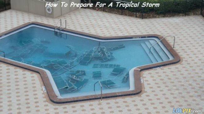 preparing for a tropical storm
