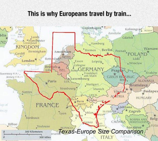 why europeans travel by train