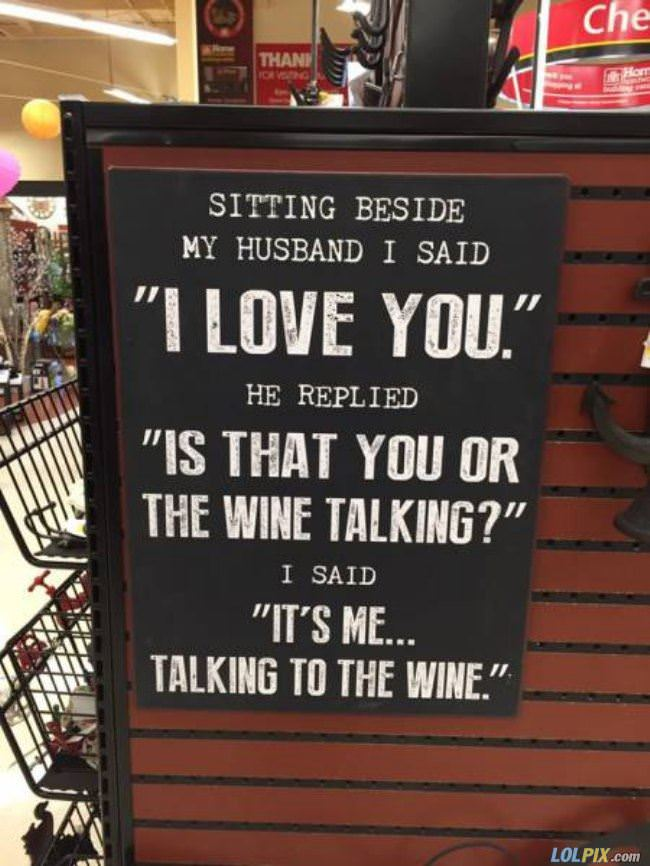 you or the wine