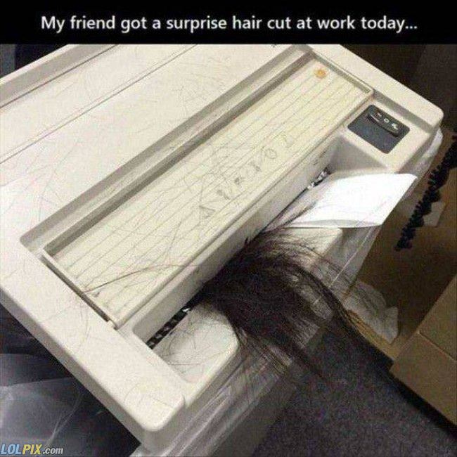 a surprise hair cut