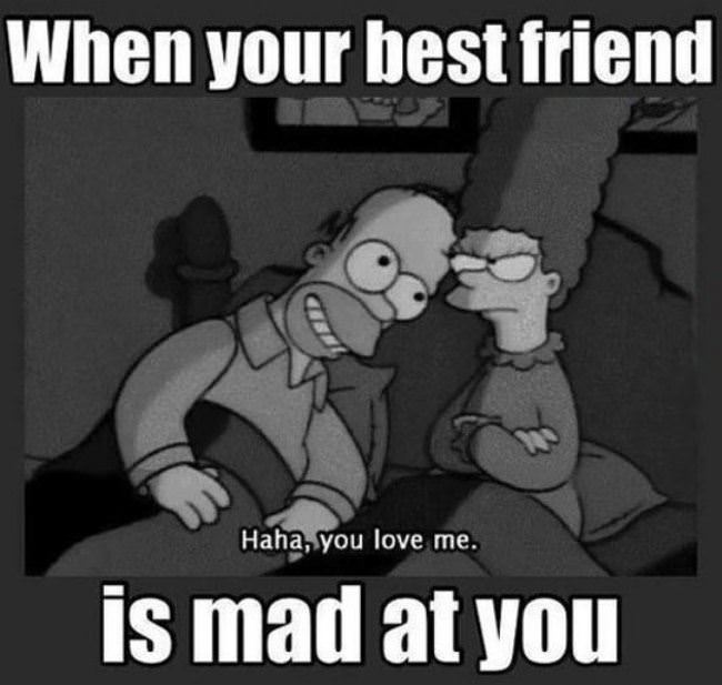 best friend is mad