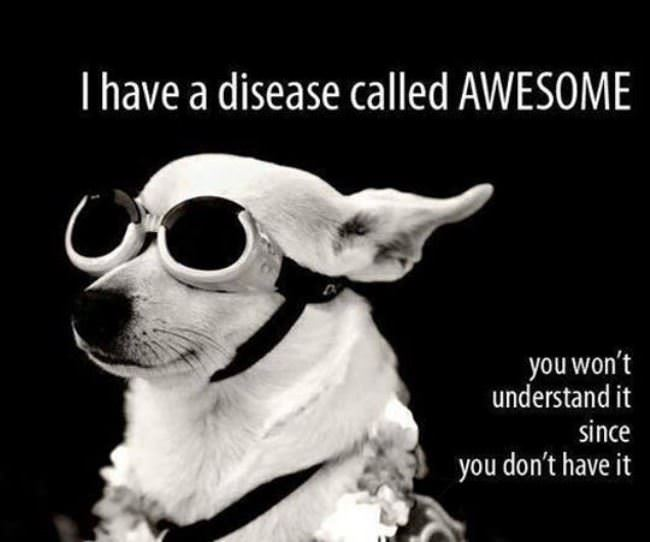 i have an awesome disease