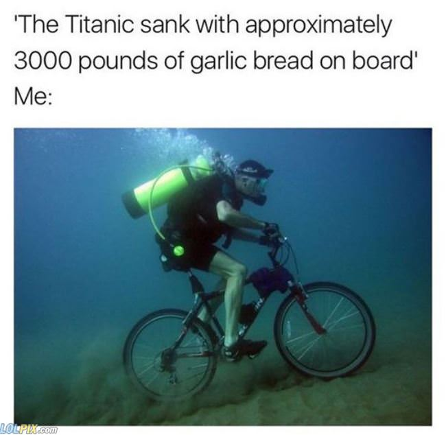 i love garlic bread