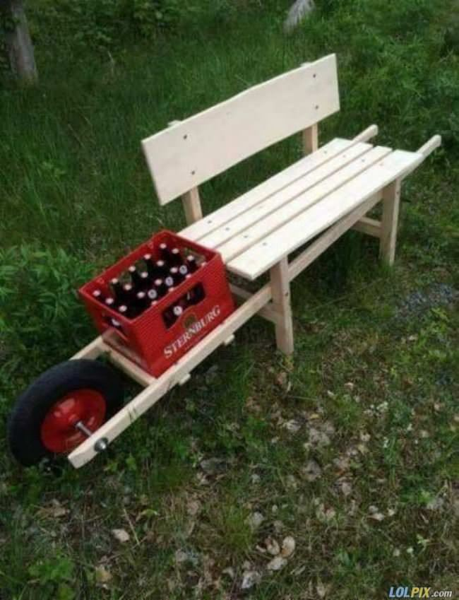 awesome idea for a bench
