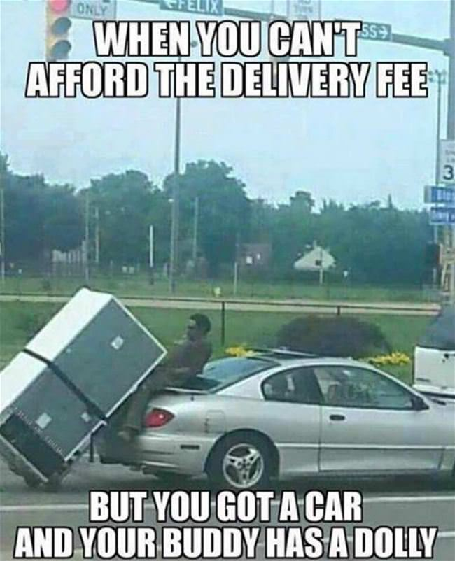cant afford delivery