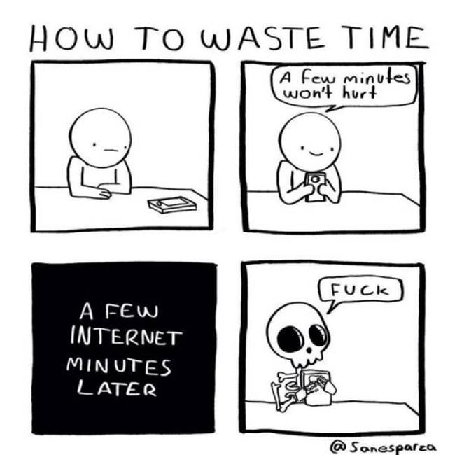 how to waste time