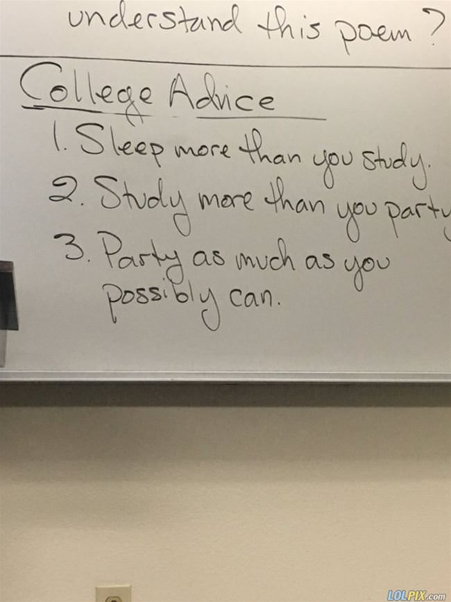 some advice for college