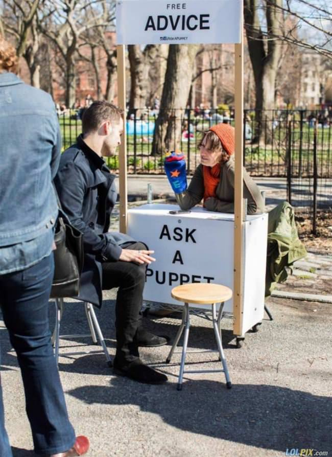 ask a puppet