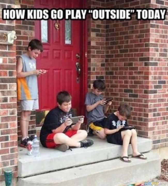 how kids go play outside