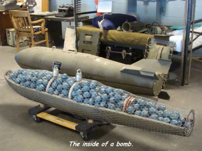 the inside of a bomb