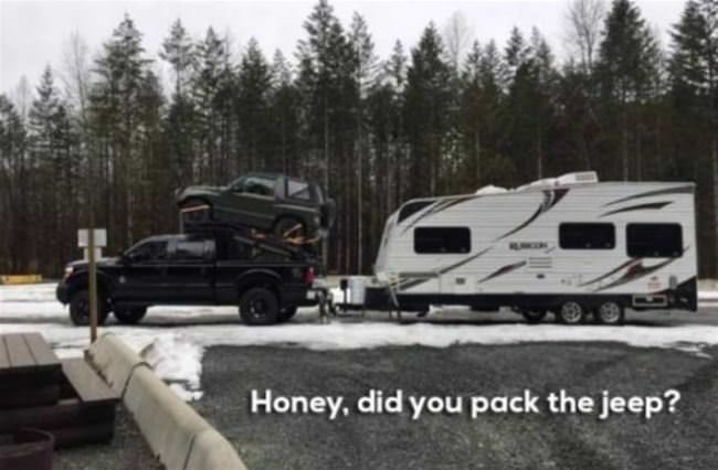 did you pack the jeep