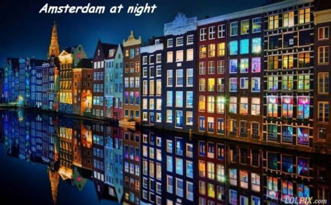 amsterdamn at night