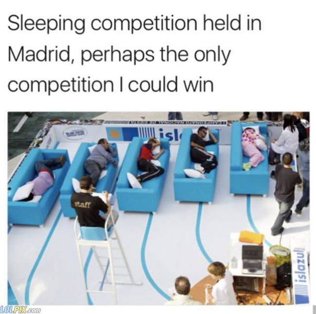 sleeping competition