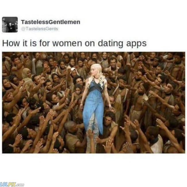 women on dating apps