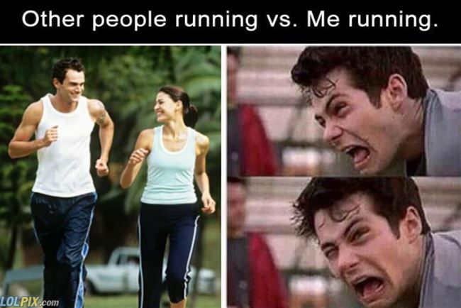 other people running