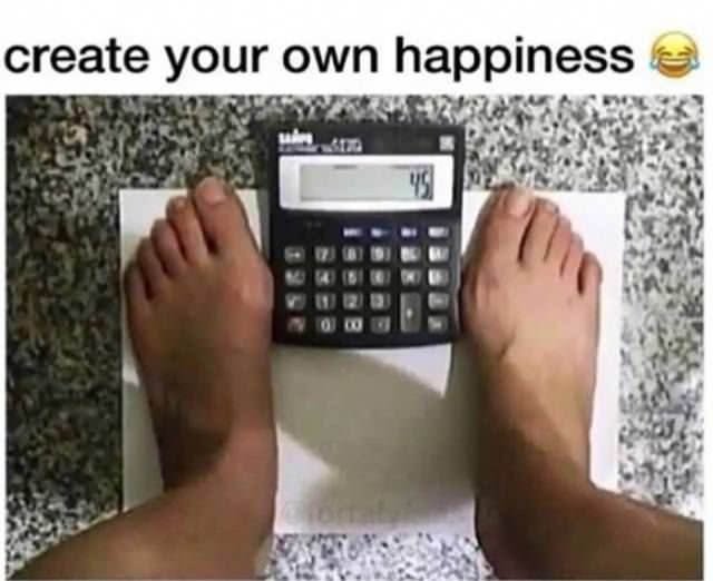 create your own happiness