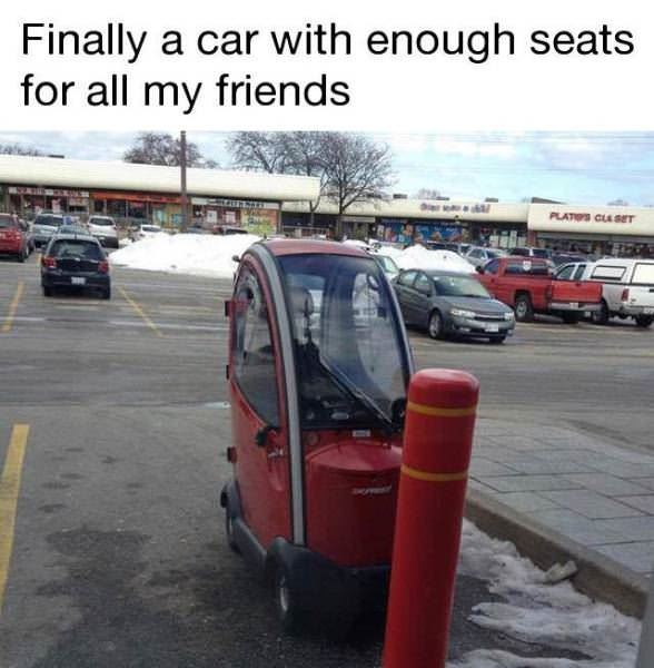 finally a car for my friends