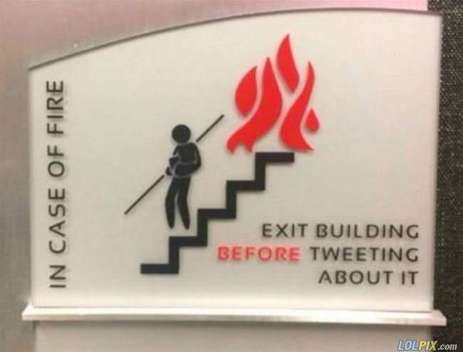 in case of a fire please
