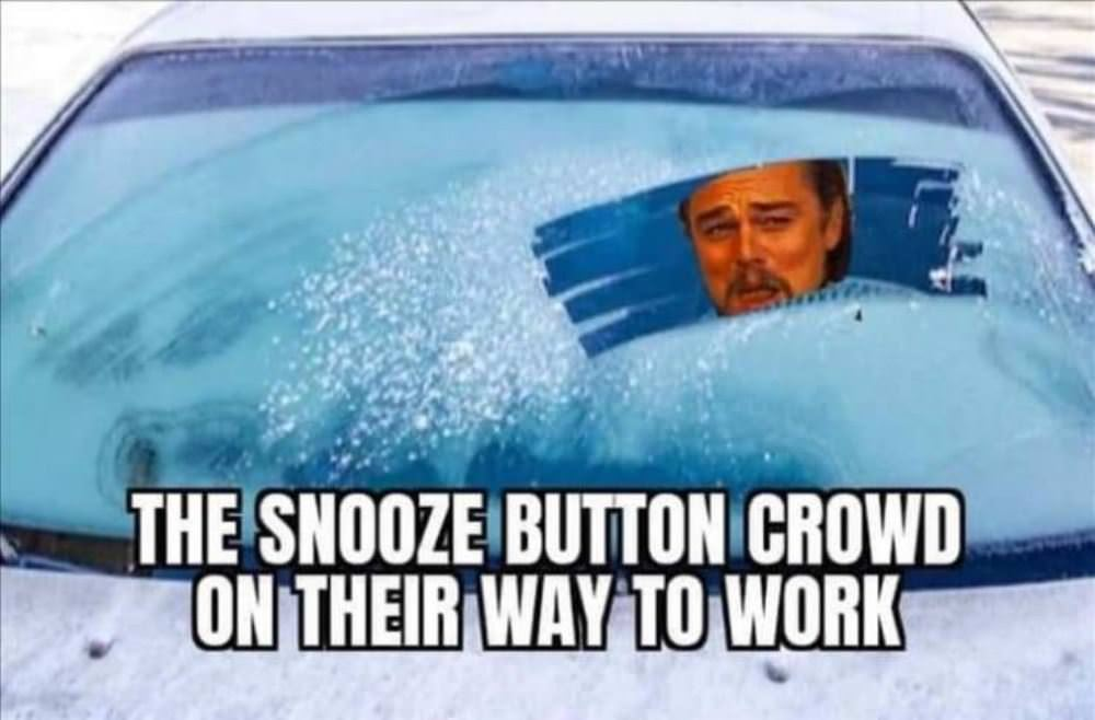 snooze button crowd